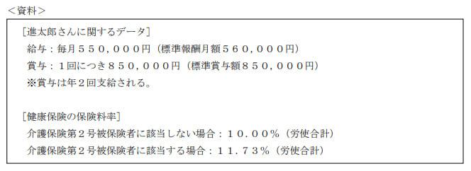 2020年1月実施日本FP協会FP2級実技試験第33問の資料②