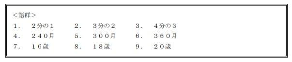 2021年5月実施日本FP協会FP2級実技試験第34問の資料②