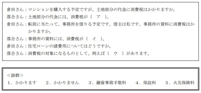 2021年5月実施日本FP協会FP2級実技試験第9問の資料