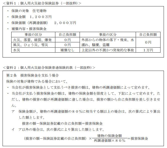 2019年9月実施日本FP協会FP2級実技試験第14問の資料