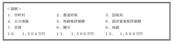 2019年9月実施日本FP協会FP2級実技試験第7問の資料