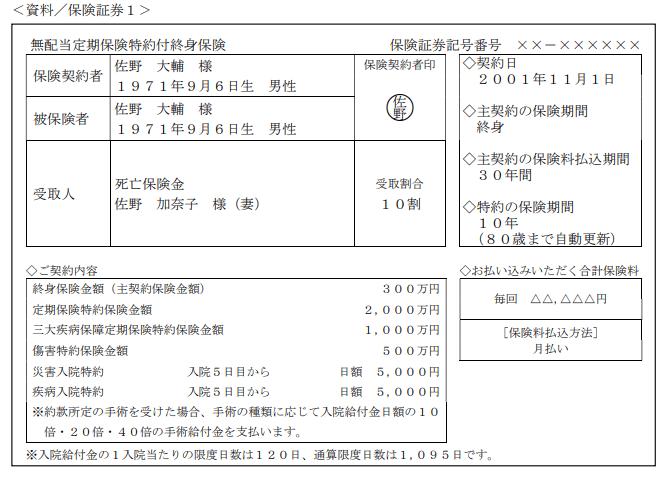 2021年9月実施FP2級実技試験第11問の資料